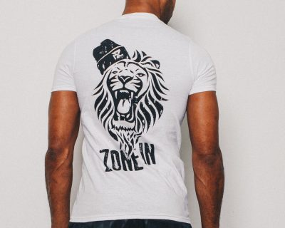 AZ Fitted Lion T-Shirt – White