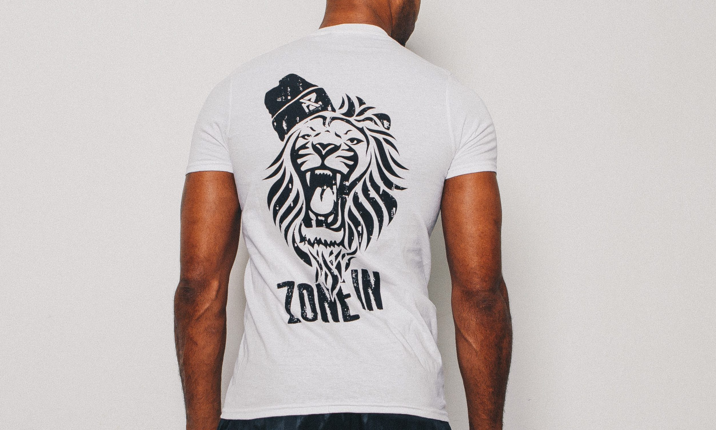 f0580653a Home>Men's Clothing>T-Shirts>AZ Fitted Lion T-Shirt – White