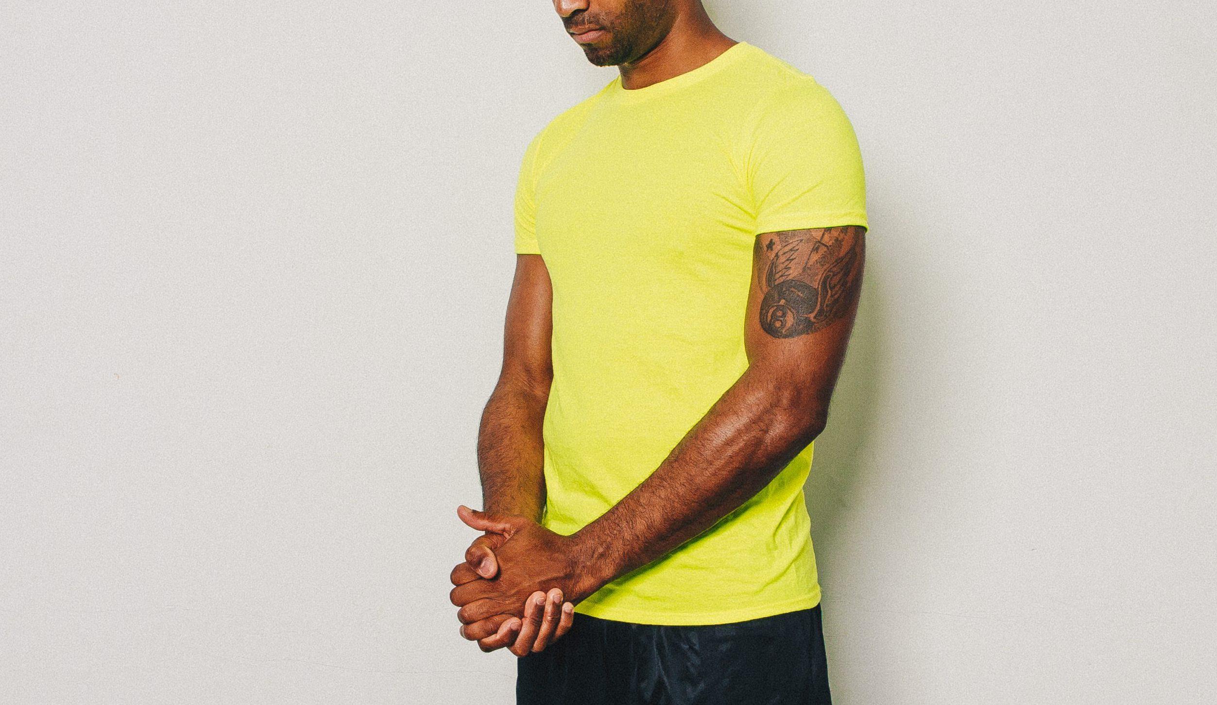 aa16ff9b2 Home>Men's Clothing>T-Shirts>AZ Fitted Lion T-Shirt – Electric Yellow