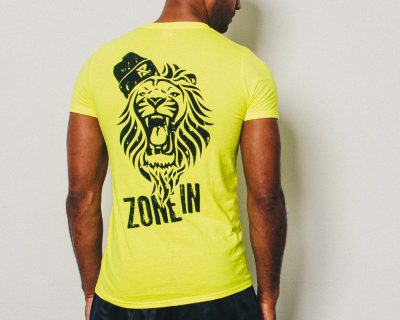 AZ Fitted Lion T-Shirt – Electric Yellow