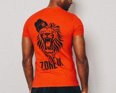 AZ Fitted Lion T-Shirt – Fire Red