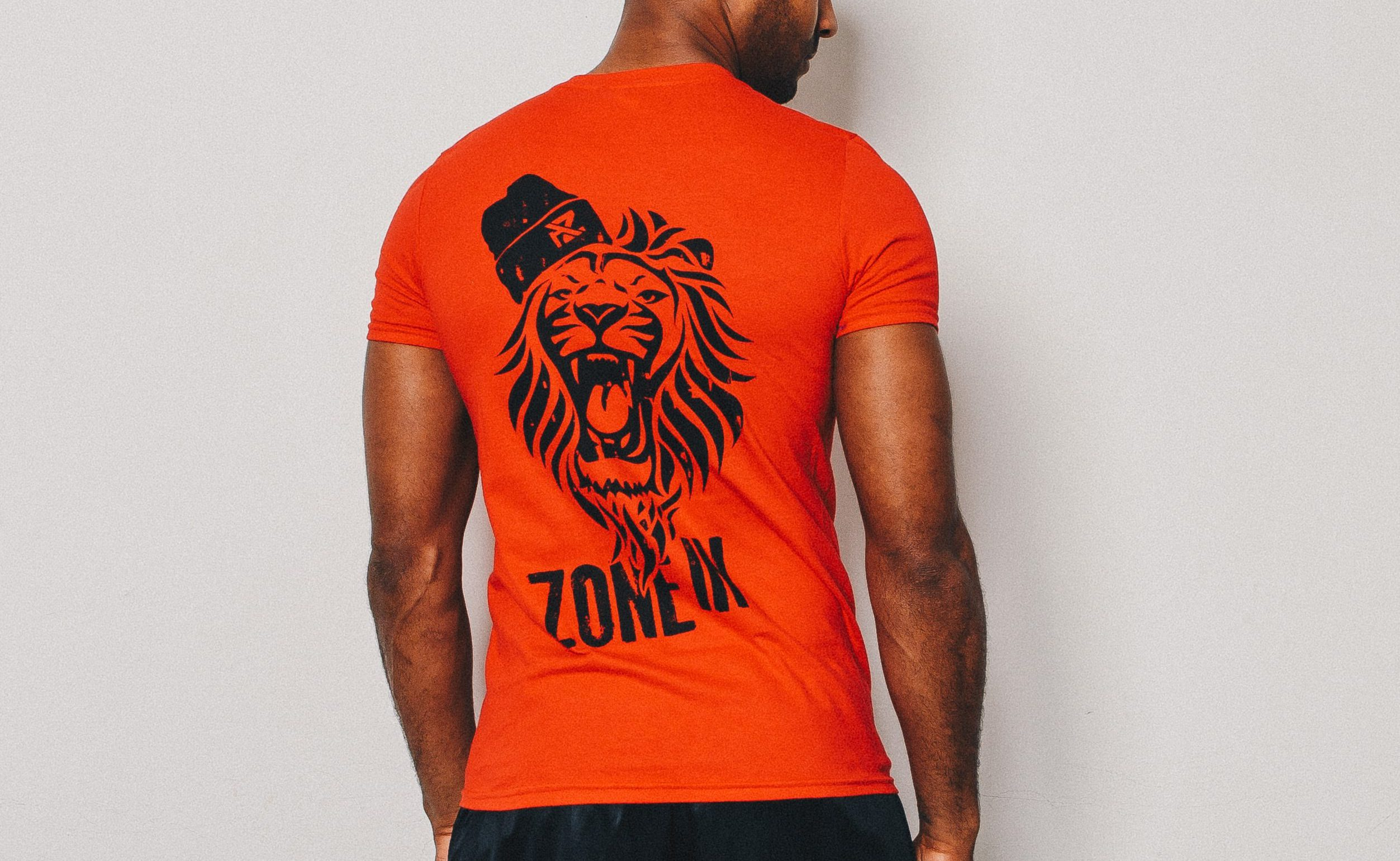 ed97cdf90 Home>Men's Clothing>T-Shirts>AZ Fitted Lion T-Shirt – Fire Red